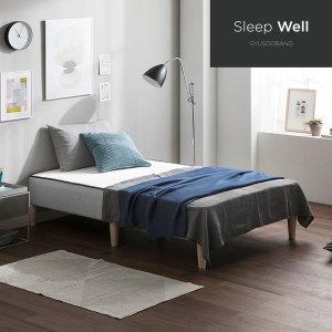 규수방 슬립웰 심플 일체형 침대 단면매트리스
