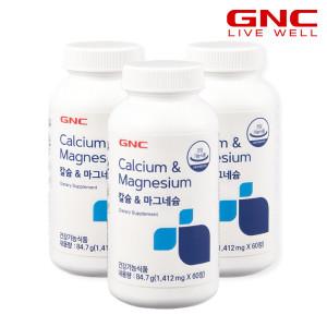 GNC 칼슘&마그네슘 60정 3병