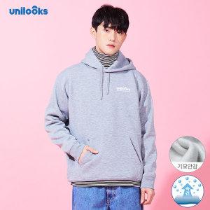 유니룩스 남녀공용 기모후드티셔츠 그레이/블루