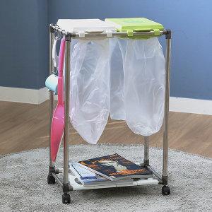가정용 재활용 분리수거함 2P / 휴지통 쓰레기통