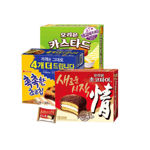 [오리온] 초코파이+카스타드+촉촉한초코칩