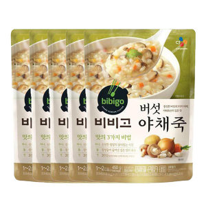 [비비고] 비비고 버섯야채죽 450g 5개