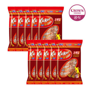 [15%쿠폰]크라운키커 초콜릿 3입 51gX10봉