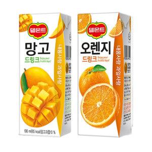 델몬트 오렌지+망고드링크 각24팩