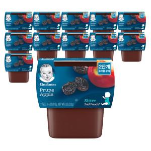 [거버] 공식판매점 거버 이유식 퓨레 퍼프 4팩(2+2) 골라담기