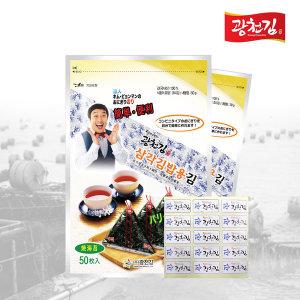 [광천김] 달인 김병만의 삼각김밥김 100매(무조미)