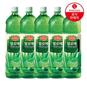 [롯데칠성] 델몬트 알로에 주스 1.5L 5병