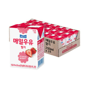[최종 7,740원] 매일 딸기 멸균우유 200ml 24팩