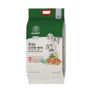[지니펫] 홍삼 홀리스틱 연어5.2kg/애견사료 랜덤증정6봉