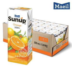 [17%쿠폰]썬업 오렌지 주스200ML 24팩