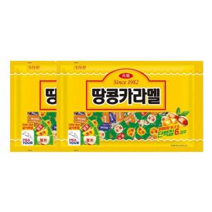 [크라운] 땅콩카라멜 720g 2팩