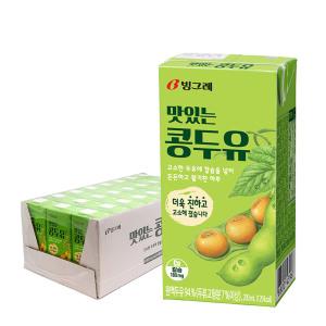 빙그레 맛있는 콩두유/딸기우유 24팩 특가!