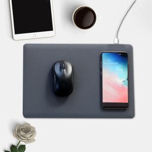 CANO 무선 충전 마우스패드 그레이 스마트폰 충전가능