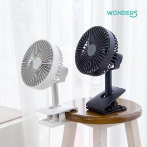 [원더스] 브리즈킹 WF70 휴대용 미니 무선 선풍기 집게형/네이비