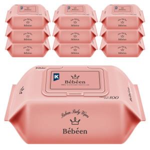 베베앙 아기물티슈 대용량 100매 캡형 10팩