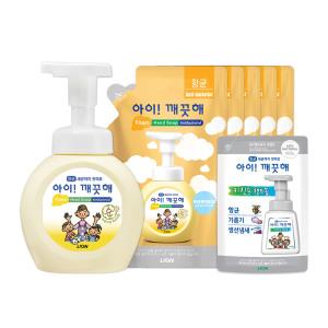 [아이깨끗해] 핸드솝 레몬 250ml 용기 x2개+200ml 리필x2개