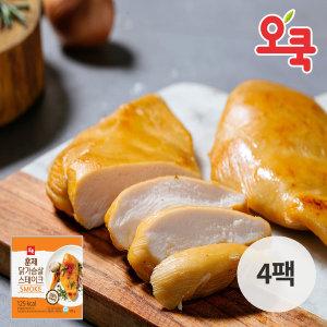 오쿡 닭가슴살 훈제 100g 4팩