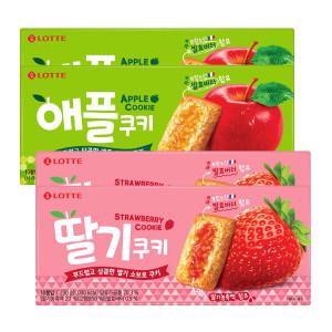 [15%쿠폰] 애플쿠키/딸기쿠키 230g 2+2상자