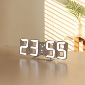 [무아스] 퓨어 미니 LED 탁상 시계 화이트