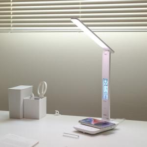 [무아스] 무선충전 시계 LED 스탠드 달력/온도