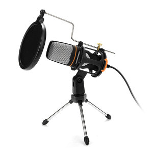 [코시] 1인 미디어 방송 콘덴서 마이크 삼각대 세트 MK3398