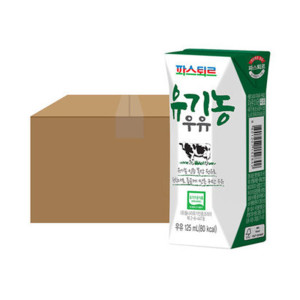 [파스퇴르] 파스퇴르 유기농 우유 125mL 24입