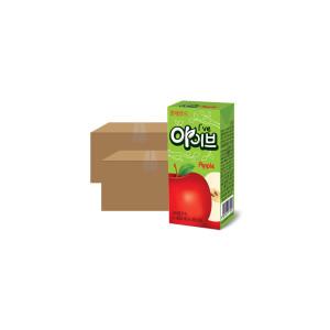[파스퇴르] 아이브 사과 과일주스 190mL 24입 X2 (48팩)