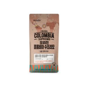 [맥널티] 콜롬비아 수프리모 오리진 로스팅원두커피  1kg