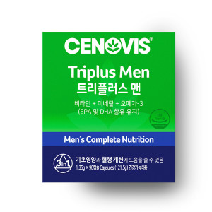 [세노비스] 남성 트리플러스맨 멀티비타민미네랄 90캡슐