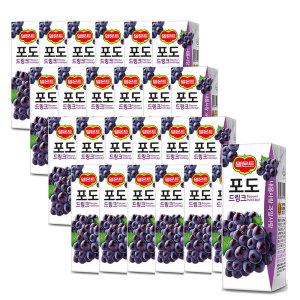[롯데칠성] 델몬트 포도 드링크 190ml 24팩 2박스 (총 48팩)