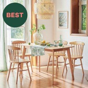 [한샘] 포레 원목 4인 식탁세트 DIY (의자4 포함)