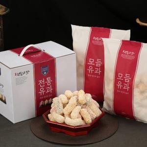 백년한과 모듬유과 1kg 선물세트/명절 설