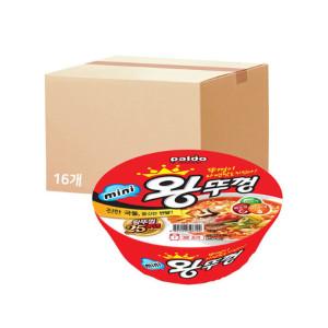 [왕뚜껑] 미니왕뚜껑 80gX1BOX(16개)