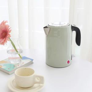 [무아스] 밀키팟 원터치 무선 전기포트 커피포트 크림