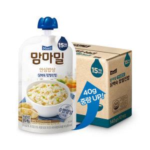맘마밀 안심밥상 닭백숙 찹쌀진밥 140g 10팩