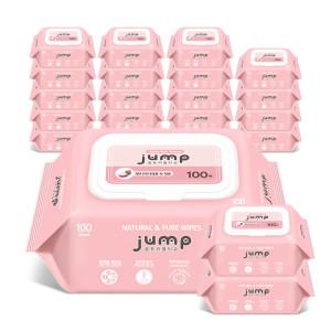[꿈토리] 아기물티슈 넉넉한점프 100매 20팩 엠보캡형+휴대용4팩