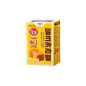 [롯데제과] 밀크카라멜 50g  X 24개