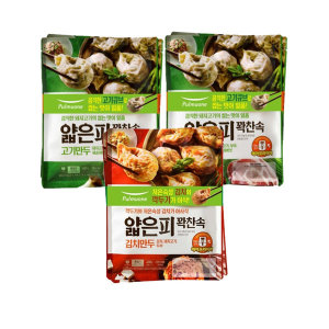 [풀무원] 얇은피만두 혼합 6봉 (고기4개+김치2개) +증정