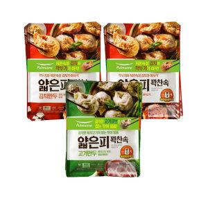 [풀무원] 얇은피만두 혼합 6봉 (김치4개+고기2개) +증정