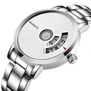 남녀공용 심플 쿼츠 스틸밴드 손목시계