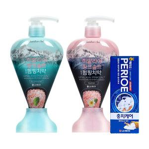 [LG생활건강] 치약 핑크솔트 펌핑치약 혼합(아이스+플로럴)
