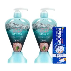 [LG생활건강] 치약 핑크솔트 펌핑치약 285g(아이스 x 2개)