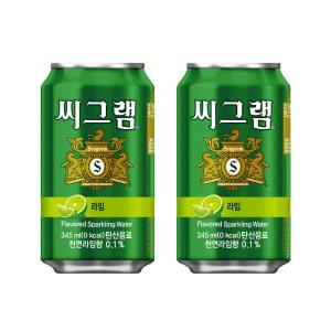 [씨그램] (본사직영) 씨그램 라임 345ml캔 24입