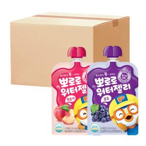 [팔도] 뽀로로 워터젤리 복숭아 10팩+포도 10팩