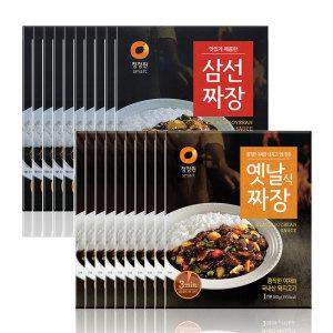 [20%쿠폰]청정원옛날짜장10개+삼선짜장10개