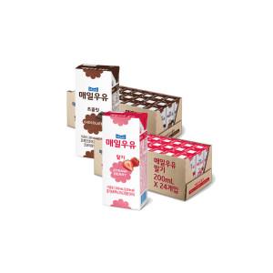 [최종가16320원]매일 딸기+초코우유 200ml 48팩