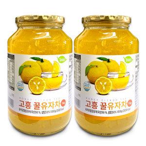 고흥 꿀유자차 1kg+1kg