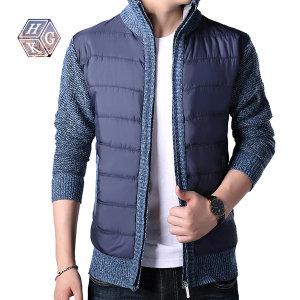 패딩 짚업 스웨트 자켓