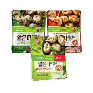 얇은피만두 혼합 6봉 (땡초+김치+고기)+증정