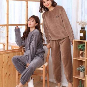 라몽드 따뜻한 융털 홈웨어 상하세트